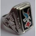 """Перстень """"Harley Davidson"""" с бирюзой"""