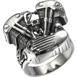 """Массивный байкерский перстень """"V-TWIN"""""""