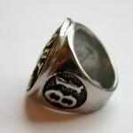 """Массивный стальной перстень """"Support 81 World"""""""