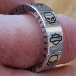"Титановое кольцо ""Harley Davidson"""