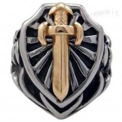 """Массивный перстень """"Щит и меч"""""""