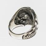 """Cтальной перстень с черепом """"Harley Davidson"""""""