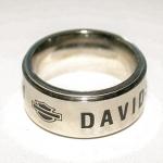 """Cтальное кольцо """"Harley Davidson"""" с вращающейся поверхностью"""