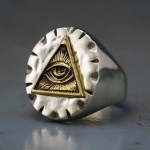 """Массивный стальной перстень """"Всевидящее Око"""""""