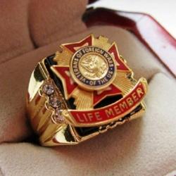 """Позолоченный перстень """"Военный Крест"""""""