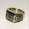 Стальной перстень с крестами Spikes