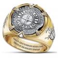"""Массивный позолоченный перстень """"Тамплиер"""""""