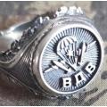 """Перстень """"ВДВ"""" из серебра 925 пробы"""