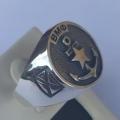"""Перстень """"ВМФ"""" из серебра 925 пробы."""