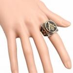 Массивный масонский перстень