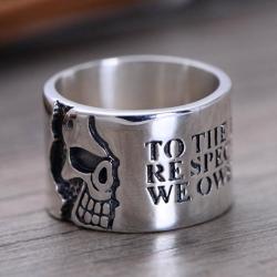 """Кольцо с изречением Вольтера """"О живых..."""""""
