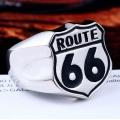 """Массивный стальной перстень """"Route 66"""""""
