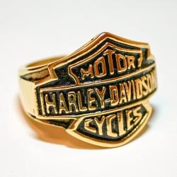 """Позолоченный перстень """"Harley Davidson"""""""