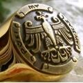 Позолоченный перстень с орлом