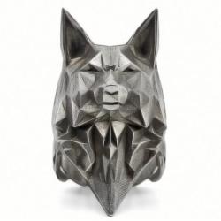 """Массивный стальной перстень """"Волк"""""""