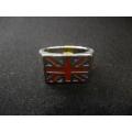 """Стальной перстень """"Флаг Великобритании"""""""