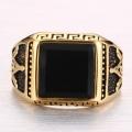 Позолоченный масонский перстень с камнем
