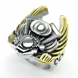 """Массивный перстень """"Мотор с крыльями"""""""