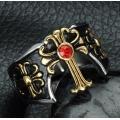 Перстень с позолоченным крестом