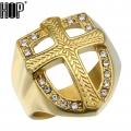 Позолоченный перстень с крестом