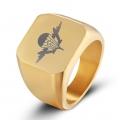 Перстень ВДВ, позолоченный