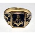 """Масонский перстень с символом """"G"""""""