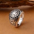 Серебряный перстень с крестами
