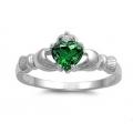 """Серебряное кольцо с камнем """"Gladdagh"""""""
