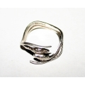Серебряное кольцо со змеями