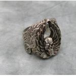 """Массивный серебряный перстень """"Череп с крыльями"""""""