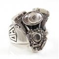 """Массивный байкерский перстень """"Мотор Harley Davidson"""""""