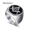 Стальной масонский перстень