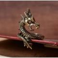 """Бронзовый перстень """"Дракон"""""""