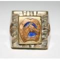 Антикварный мексиканский перстень 30-40-х годов пр. века