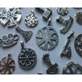 Серебряные подвески, кресты, обереги