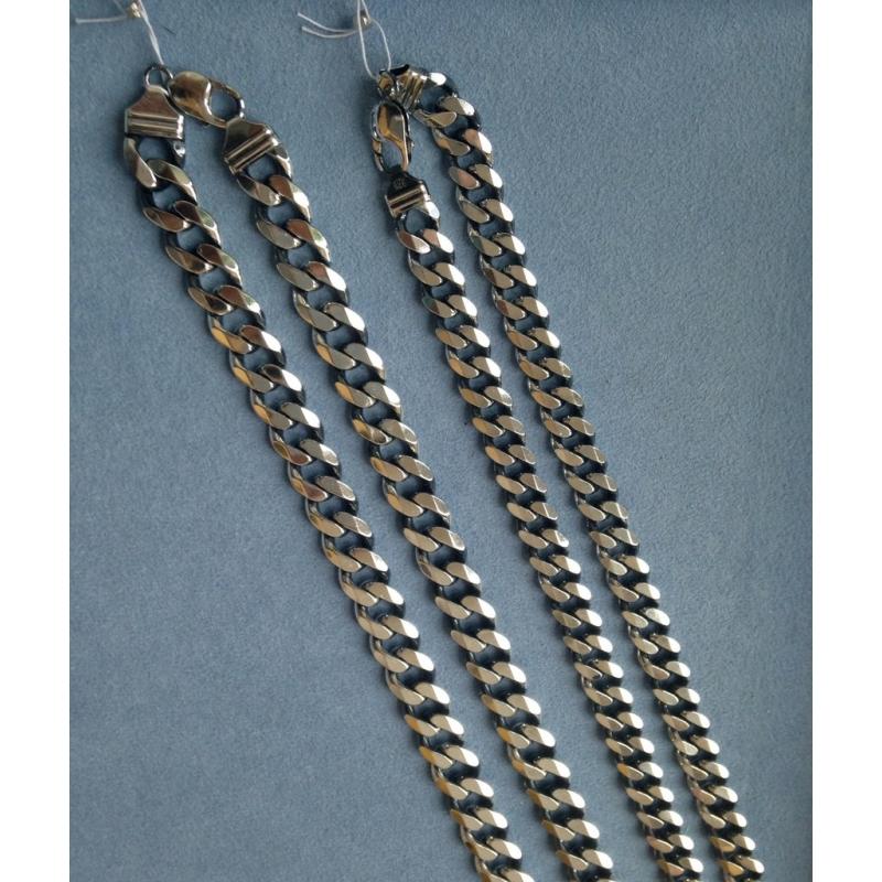 Серебряная цепочка. панцирное плетение