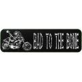 "Виниловый стикер на шлем/мотоцикл ""Bad to the bone"" (плохой в доску)"