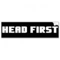 """Виниловый стикер на шлем/мотоцикл """"Head first"""" (сначала в голову)"""