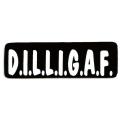 """Виниловый стикер на шлем/мотоцикл """"D.I.L.L.I.G.A.F."""""""
