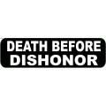 """Виниловый стикер на шлем/мотоцикл """"Смерть лучше позора"""""""