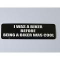 """Виниловый стикер на шлем/мотоцикл """"Я был байкером..."""""""