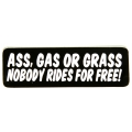 "Виниловый стикер на шлем/мотоцикл ""Трава, бензин или зад ..."""