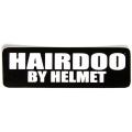 """Виниловый стикер на шлем/мотоцикл """"Укладка волос с помощью шлема"""""""