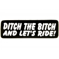 """Виниловый стикер на шлем/мотоцикл """"Выкини суку в канаву и поехали кататься!"""""""
