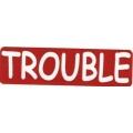 """Виниловый стикер на шлем/мотоцикл """"Trouble"""" (проблема)"""