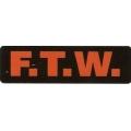"Виниловый стикер на шлем/мотоцикл ""F.T.W."""