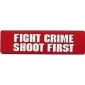 """Виниловый стикер на шлем/мотоцикл """"Борись с преступностью - стреляй первым"""""""
