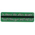 """Виниловый стикер на шлем/мотоцикл """"Есть ли жизнь после смерти?..."""""""