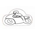 """Виниловый стикер на шлем/мотоцикл """"Мотоциклист"""""""
