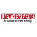 """Виниловый стикер на шлем/мотоцикл """"Я живу в страхе каждый день..."""""""